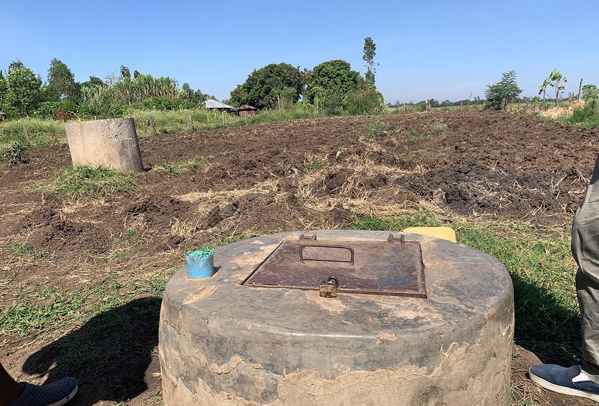 Bau eines Brunnens