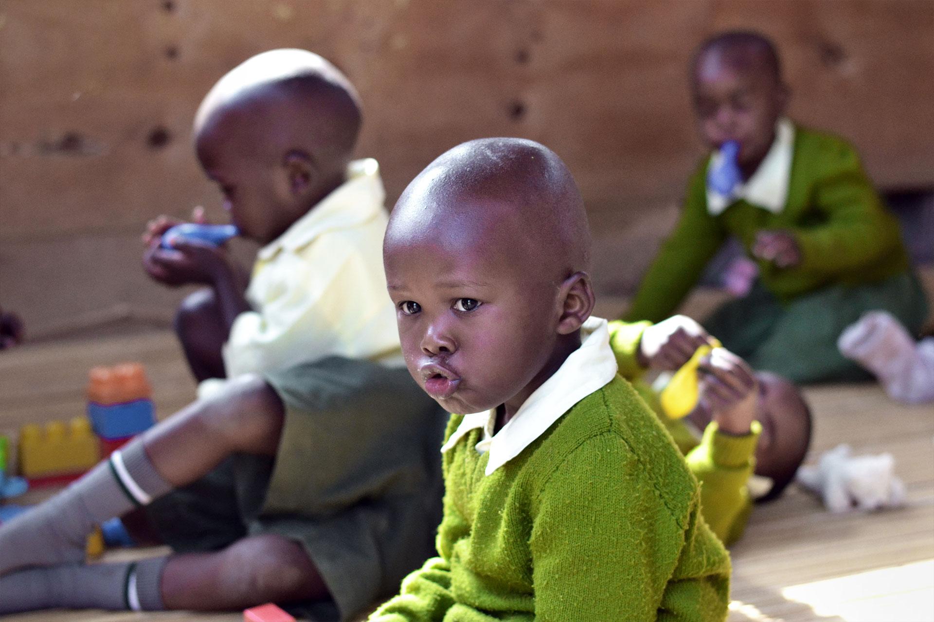 Schüler der Baby Class