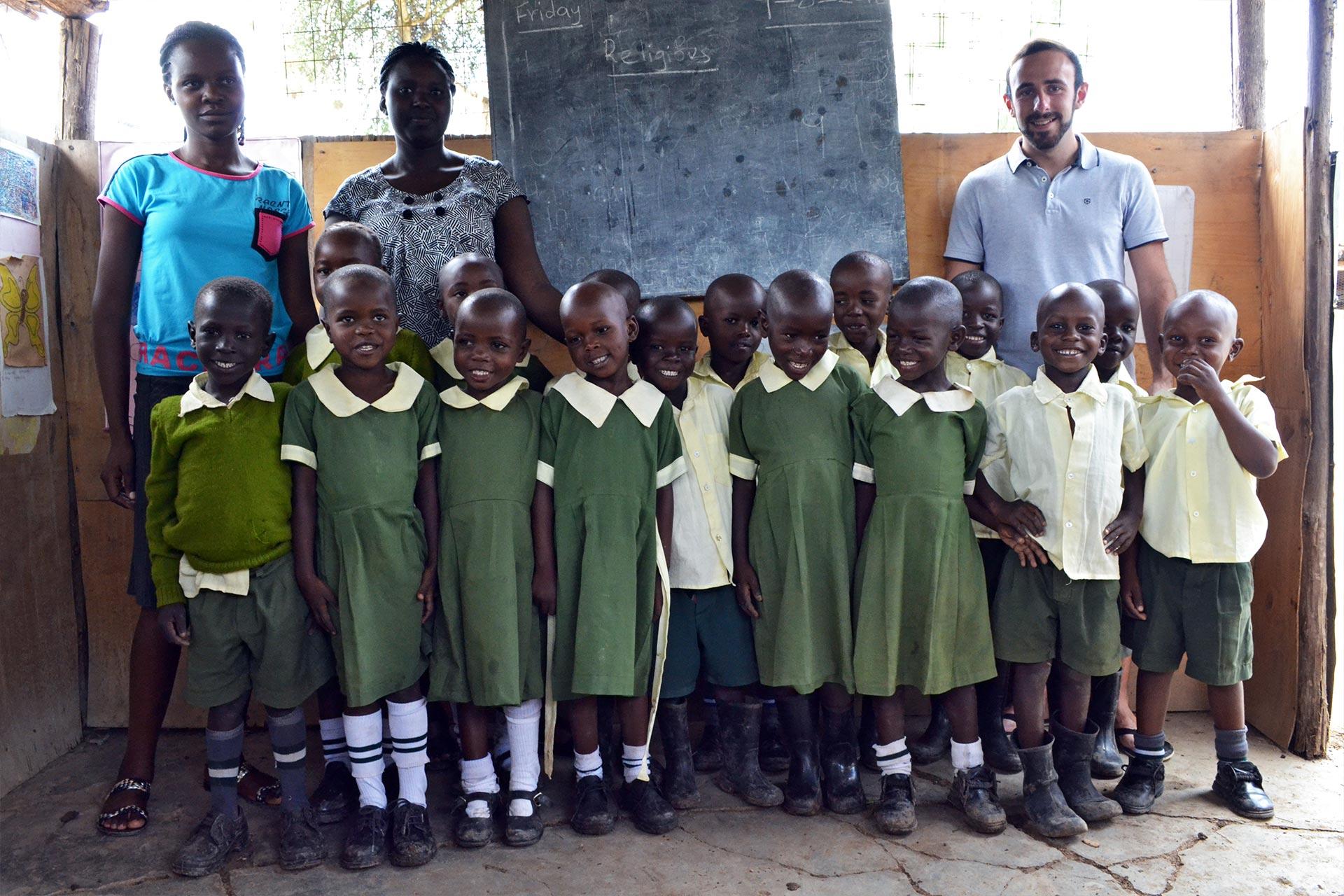 Gruppenfoto der Happy Kids Vorschulklasse 1
